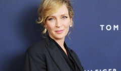Uma Thurman,incinta,foto,photo,news,vip,notizie,gossip